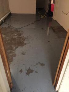 911 Restoration - water damage- Hanover- basement flood